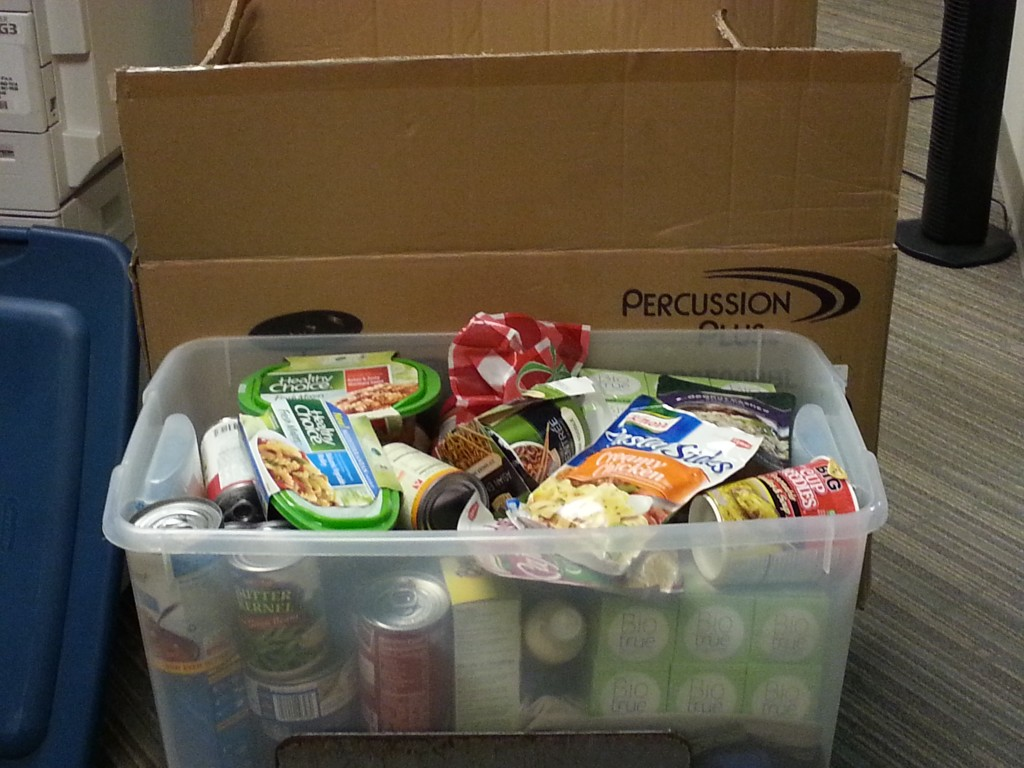 All of our donations from patients and staff.  Two whole boxes!
